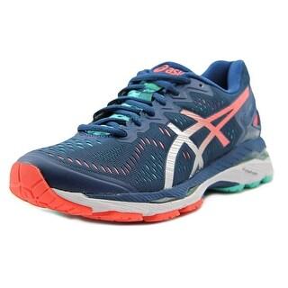 Asics Gel Kayano 23 Women Round Toe Synthetic Blue Running Shoe (Option: 12.5)