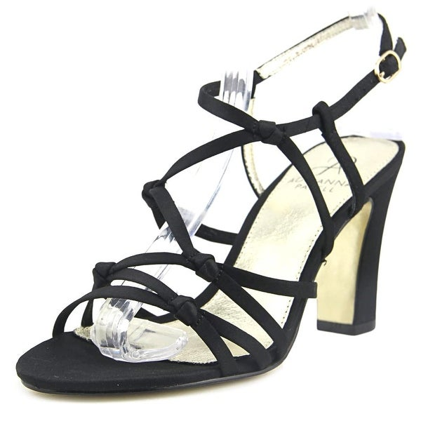 Adrianna Papell Genny Women Open Toe Canvas Black Sandals