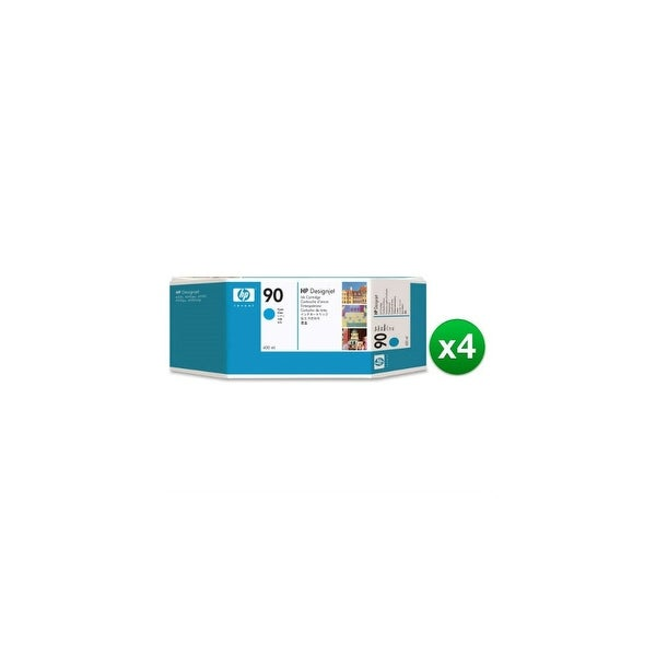 HP 90 400-ml Cyan DesignJet Ink Cartridge (C5061A) (4-Pack)