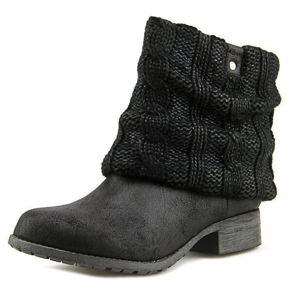Jellypop Tokyo Women Black Knitted 008 Boots