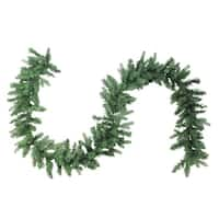 "9' x 12"" Mixed Coniferous Pine Artificial Christmas Garland - Unlit - green"