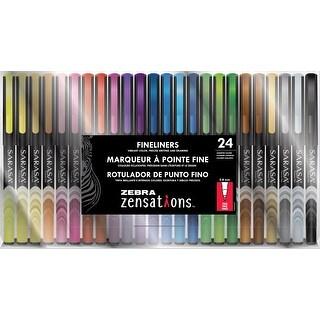 Zebra Zensations Fineliner Pens 24/Pkg 0.8Mm-Assorted