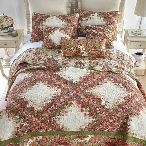 Donna Sharp Watercolor Irish Chain Quilt Set