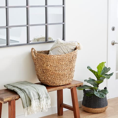 Dried Plant Material Contemporary Storage Basket 19 x 20 x 18