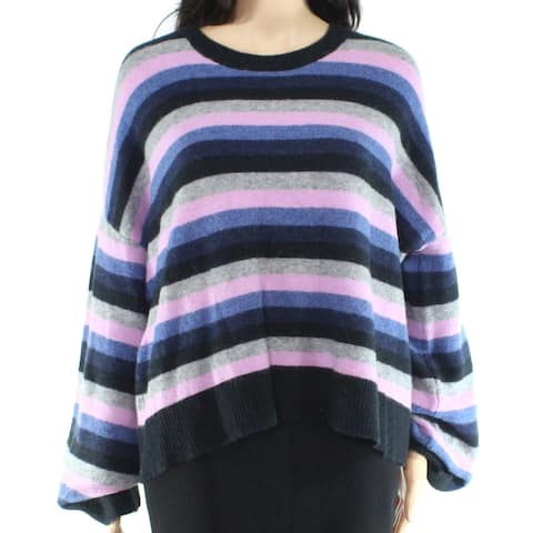 Madewell Womens Sweater Blue Size Large L Colorblock Striped Knitted
