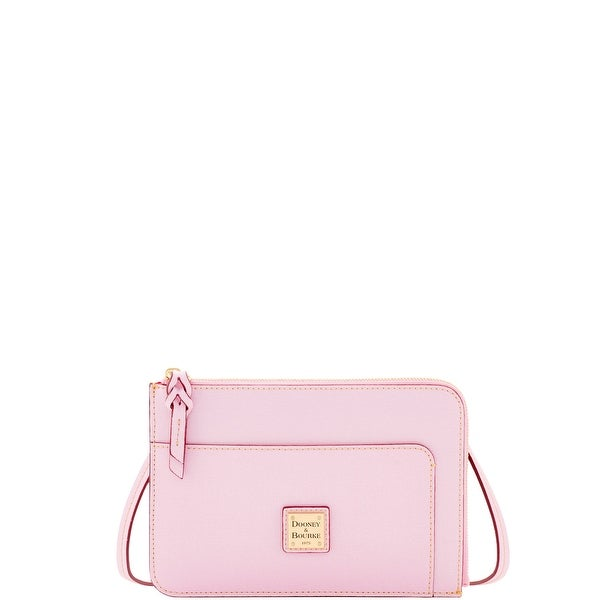 Dooney & Bourke Saffiano Flat Crossbody (Introduced by Dooney & Bourke at $148 in Feb 2017) - light pink