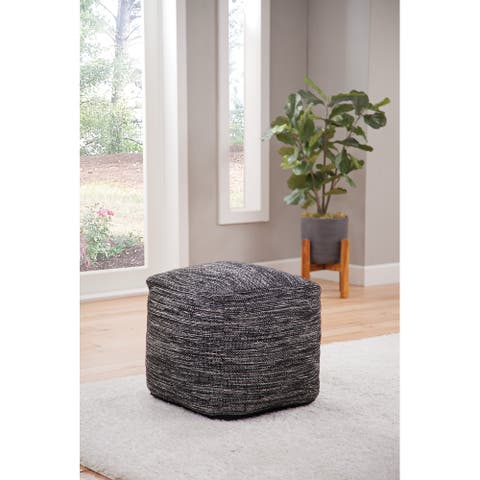The Curated Nomad Oasis Handwoven Pouf