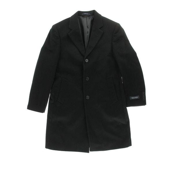 Shop Nautica Mens Pea Coat Wool Notch Collar Free
