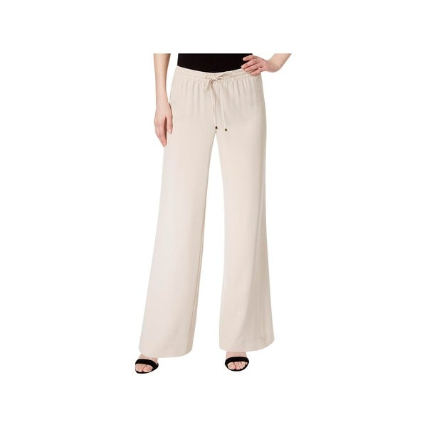 57fd5de59f0 Shop Calvin Klein Womens Wide Leg Pants Drawstring Palazzo - Free Shipping  On Orders Over $45 - Overstock - 22612762