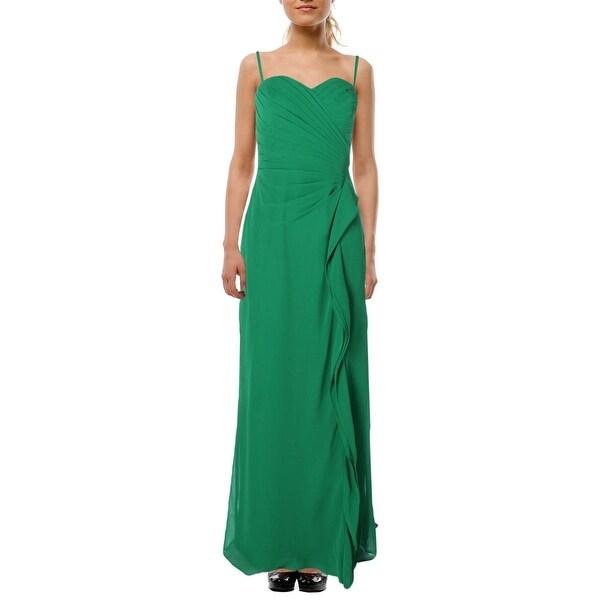 Lauren Ralph Womens Evening Dress Chiffon Pleated 6