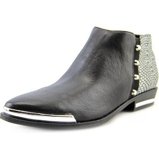 Fergie Indigo Women Pointed Toe Leather Black Ankle Boot