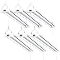 Sunco Lighting 4FT LED SHOP LIGHT 40W 5000K Daylight (Set of 6)