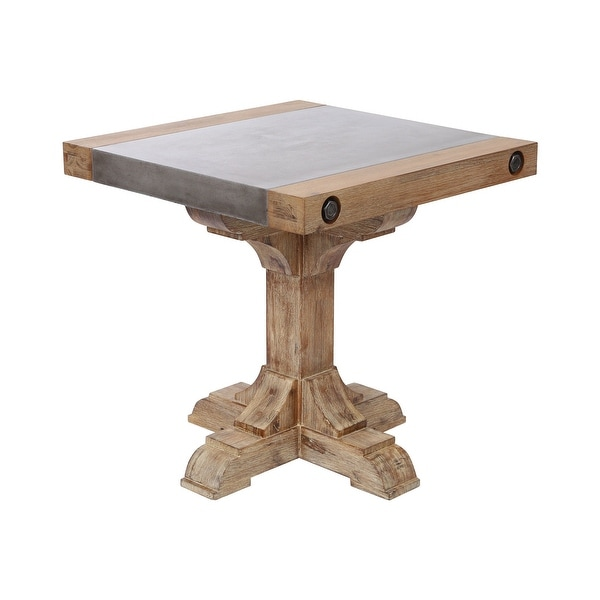 "Elk Home 157-061 Kingdom 23-5/8 "" Wide Acacia Accent Table with Concrete Top - Atlantic Brush"