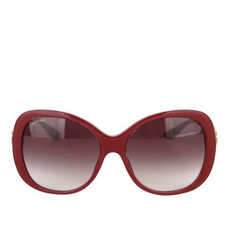 Bvlgari Women's Flower Crystal Raspberry Plastic Oversized Round Sunglasses 8171-B 5380/8H - One size