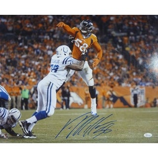 Von Miller Autographed Denver Broncos 16x20 photo Jumping JSA