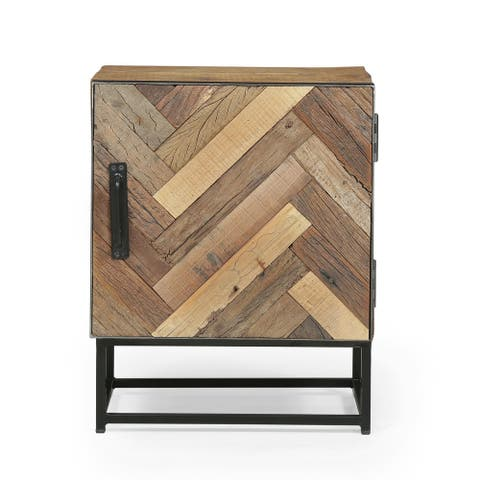 Richmond Recycled Wood Night Stand by Christopher Knight Home