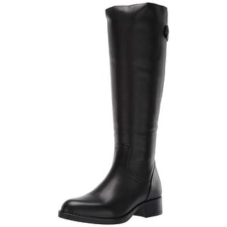 Steve Madden Womens Journal Leather Closed Toe Knee High Fashion Boots - 5