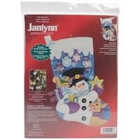 "Frosty's Favorite Ornament Stocking Felt Applique Kit-18"" Long"