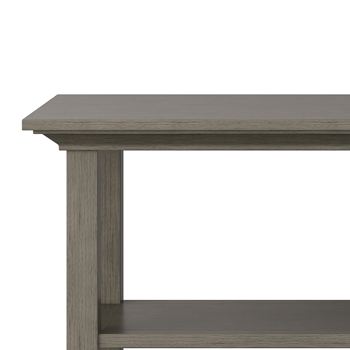 Wyndenhall Mansfield Solid Wood 54 Inch Wide Rustic Console Sofa Table 54 W X 16 D X 30 H Overstock 13917186