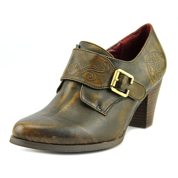 L'Artiste Pali Women Round Toe Leather Brown Loafer