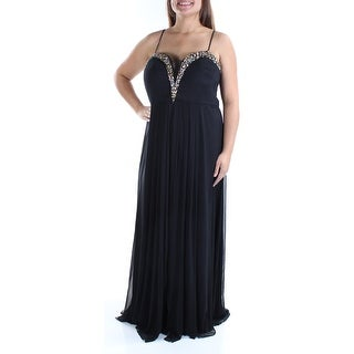 Womens Black Sleeveless FullLength Formal Dress Size: 18W