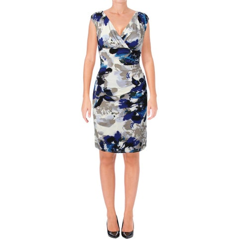 Lauren Ralph Lauren Womens Adara Cocktail Dress Printed Sheath