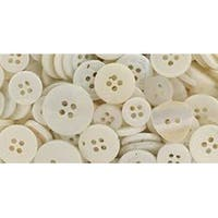 White - Button Bonanza .5Lb Assorted Buttons