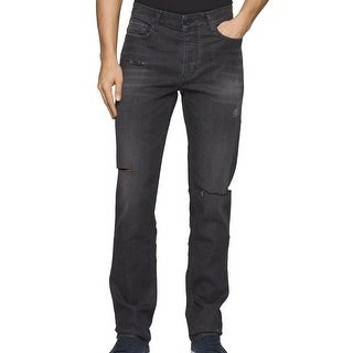 Calvin Klein NEW Metal Gray Mens Size 32X30 Slim Straight Leg Jeans