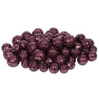 20-25-30MM Dk Mauve Glitt Ball 72/Bag