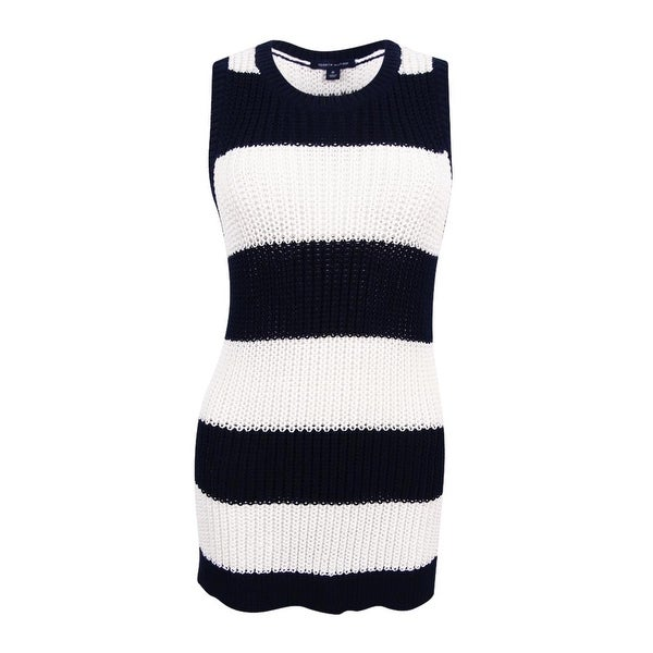afeb5553b3e9a Shop Tommy Hilfiger Women s Striped Sleeveless Sweater - Free Shipping On  Orders Over  45 - Overstock - 17795726