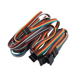 10PCS 2.54mm Pitch 6P Female Breadboard Single Head Jumper Wire Cable 50cm Long