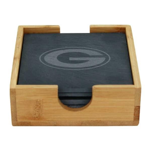 Memory Company Green Bay Packers Slate Square Coaster Set