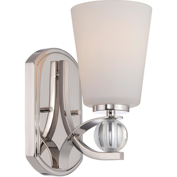 """Nuvo Lighting 60/5491 Connie 1-Light 4-3/4"""" Wide Bathroom Sconce with Frosted Glass Shade - Polished Nickel"""
