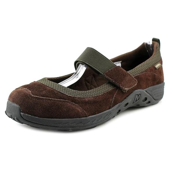 Merrell Jungle Moc Sport MJ Women Round Toe Suede Brown Walking Shoe