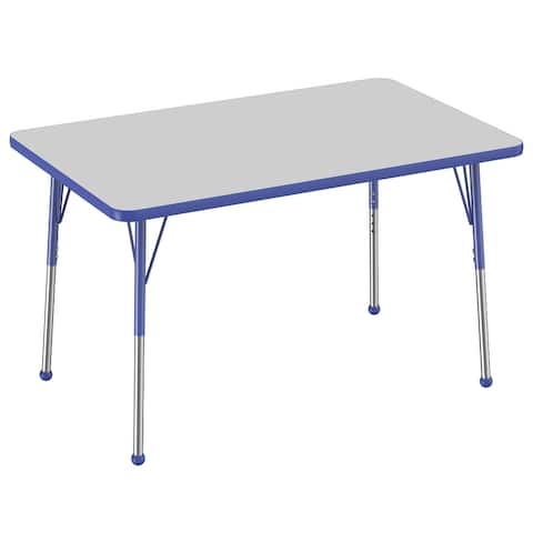 """30"""" x 48"""" Rectangle Activity Table with Adjustable Ball Glide Legs"""