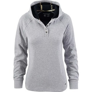 Legendary Whitetails Ladies Northshore Hooded Pullover Henley - Athletic Heather