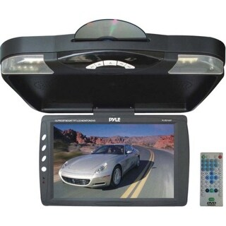 Pyle Audio PYLPLRD143FB Pyle 14.1-Inch Roof Mount TFT-LCD Monitor with Built-In DVD Player