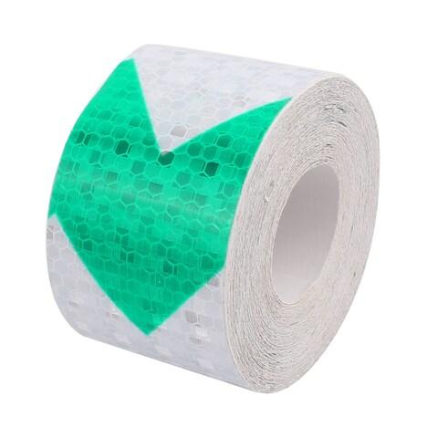 Green White Arrow Honeycomb Reflective Warning Tape 5cm Width 10m Length