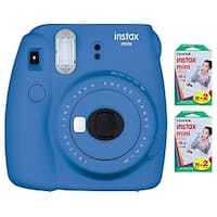 Fujifilm Instax Mini 9 (Cobalt Blue) w/ Color Film (40 Exposures)