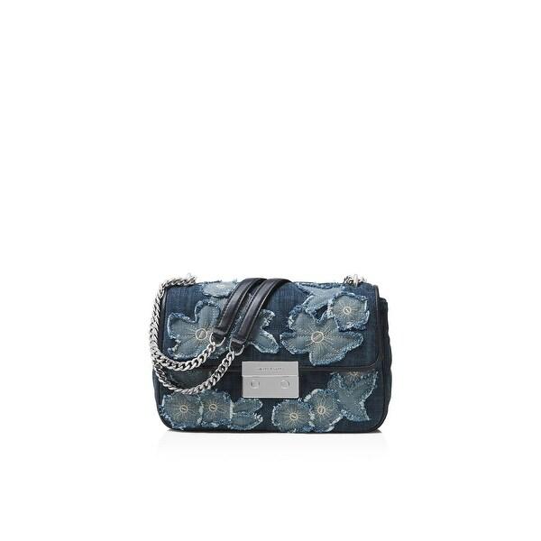 511dbdd7e376 Shop Michael Kors Womens Sloan Shoulder Handbag Denim Embroidered ...