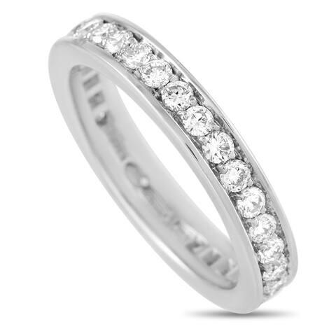 Bvlgari White Gold 0.85 ct Diamond Eternity Ring Size 5.25