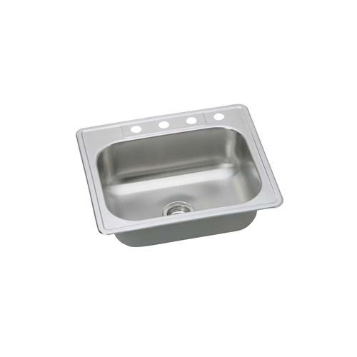 proflo pfsr252274 25   single basin drop in stainless steel kitchen sink with 4 faucet holes   free shipping today   overstock com   20074775 proflo pfsr252274 25   single basin drop in stainless steel kitchen      rh   overstock com