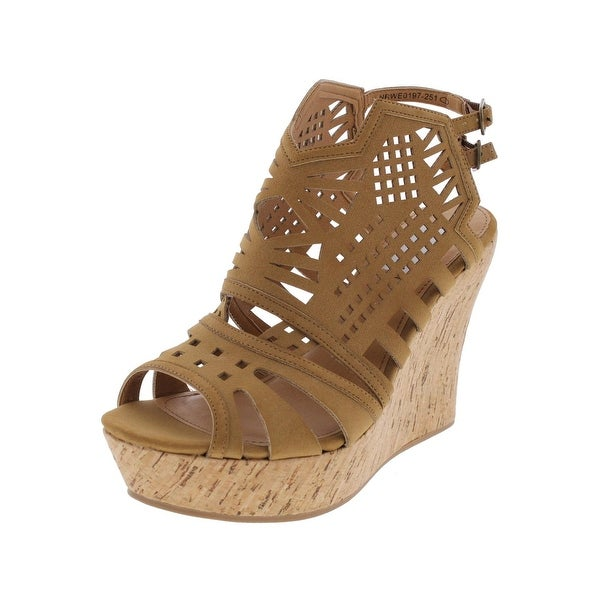 Not Rated Womens Elysium Platform Sandals Open Toe Cork