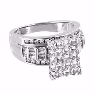 Princess Cut Womens Ring 925 Sterling Silver Engagement Bridal Wedding Classy