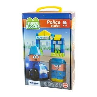 Super Blocks Police Station Set