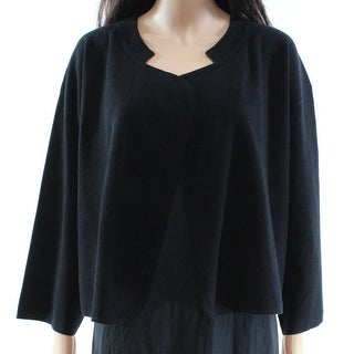 Max Mara NEW Black Knit Open-Front Women's Size Small S Crop Jacket
