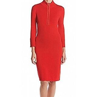 Calvin Klein Women's Dress, Red, X-Large