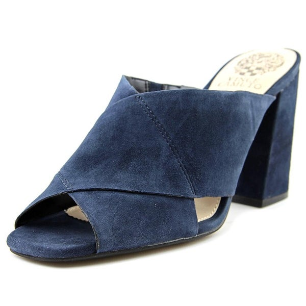 Vince Camuto Jevan Women Open Toe Suede Blue Sandals