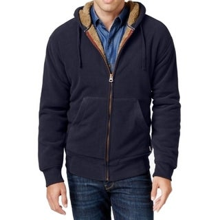 Weatherproof NEW Blue Mens Size 2XL Faux Sherpa Lined Hooded Jacket