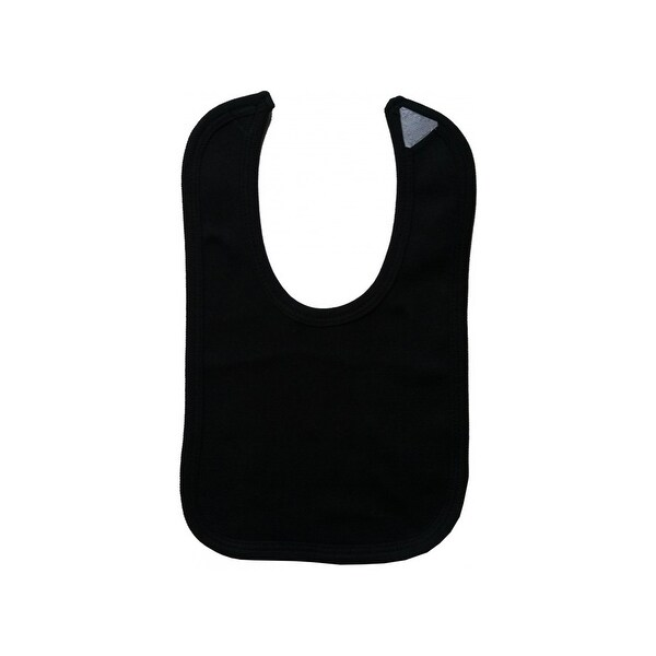Bambini Baby 2-Ply Interlock Solid Black Trim Infant Bib - 1023BLK